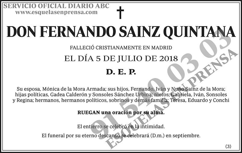 Fernando Sainz Quintana